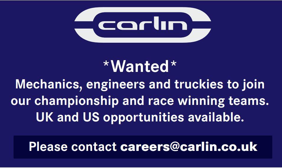 Carlin Motorsport Vacancies - Farnham   Motorsportjobs.com